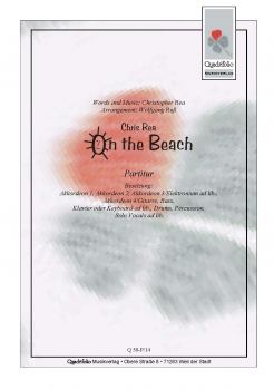 On The Beach - Partitur