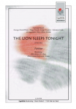 The Lion Sleeps Tonight (Mbube) - Partitur